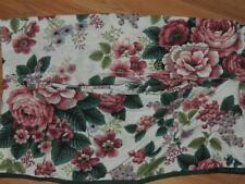 WAVERLY PLEASANT VALLEY COLONIAL VALANCE FLORAL 86X15 FLORAL GREEN TRIM