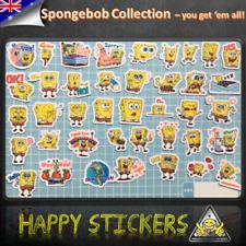 SpongeBOB Set Car Skateboard Phone Luggage Guitar Laptop Fridge Decal Sticker