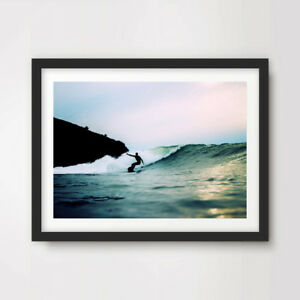 SURFING SURFER PHOTOGRAPH ART PRINT Poster Modern Beach Waves Decor Wall Picture