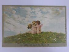 """AK Litho Künstlerkarte Engel """"Herzliche Ostergrüsse"""" Feldpost 1918 (Nr. 1478)"""
