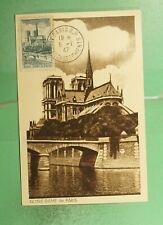 DR WHO 1947 FRANCE NOTRE DAME PARIS MAXIMUM CARD  g19473