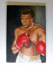 Muhammad Ali Oil Painting Artist Signed FM Brown Portrait of a Champion W.A.B.A.