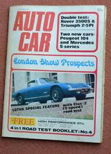 October Autocar Cars, 1970s Magazines