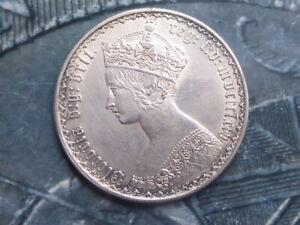 florin coin 1864 die 60 nr top grade lxiv