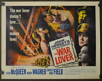 WAR LOVER 1962 ORIGINAL 22X28 MOVIE POSTER STEVE McQUEEN ROBERT WAGNER