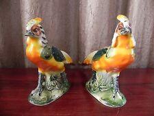 Vintage Ardco Pheasant BirdFigurines Fine Quality Dallas Japan