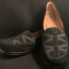 Womens Size 10 M Natural Soul by Naturalizer Black Suede Flats NWOT Comfort Shoe