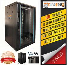 Server Rack 18U ( 1 Mt H )  600 W x 1000 D Glass Door Rack cabinet