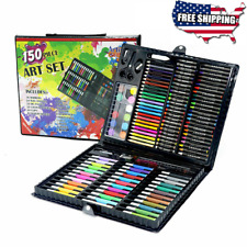 Art Set 150pcs For Kids Teens Drawing Painting Color Pencils Pastels Kit Box