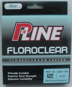 P-Line FCCF-6 Fluorocarbon Premium line 12 lb. Test 300 yd Spool
