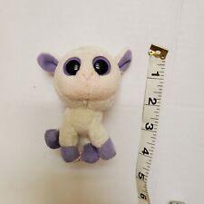 "Plush White Pink Purple 4"" Big Eye LAMB Sheep TY Lily Toy"