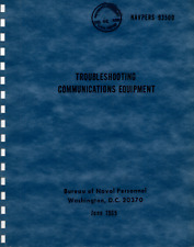 291 Pg. NAVPERS 93500 Navy Troubleshooting Communications Equipment Manual on CD