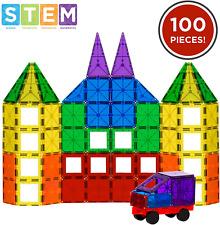 Best Choice Products 100-Piece Transparent Rainbow Magnetic Building Geometric