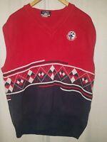 Vintage Sweater Vest U.S. Open Pebble Beach 1992 Large Red White Blue Excellent