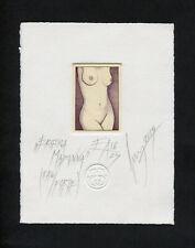 Etching Miniature - Erotica Madonna
