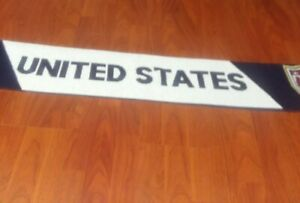 USA Scarf United States Spell out Soccer Patriotic Red White Blue