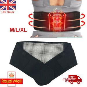 Self Heating Magnetic Back Pain Support Lower Lumbar Brace Waist Belt Strap New