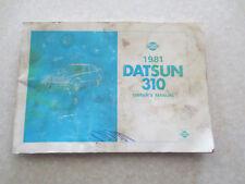 1981 Datsun 310 owners manual