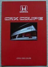 HONDA CIVIC CRX COUPE Car Sales Brochure c1986
