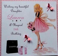 HANDMADE PERSONALISD BIRTHDAY CARD DAUGHTER SISTER NIECE 16th 18th 21st 40th etc