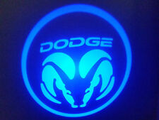 2Pc Blue Dodge 5W Led Emblem Door Projector Ghost Shadow Puddle Logo Light