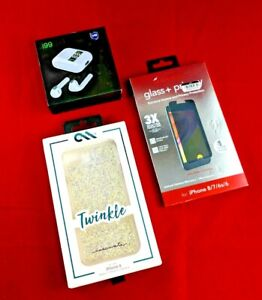 Zagg InvisibleShield Glass/Casemate Twinkle case/ iPhone 6 / 6S / 7 / 8/ headpho