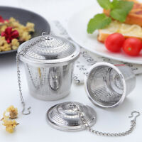 Useful Tea Ball Spice Strainer Mesh Infuser Filter Stainless Steel Herbal 3Size