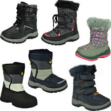 ** WINTER SNOW BOOTS WATERPROOF FUR SHOES COMFY WARM SIZES KIDS BOYS GIRLS NEW