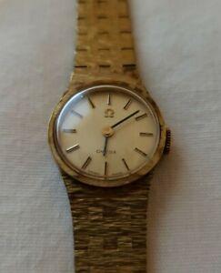 Vintage Women's Gold Omega Watch Running