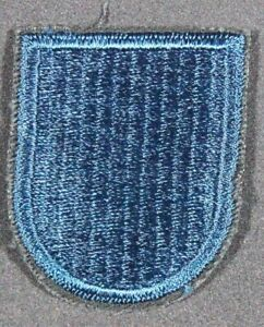 Army Beret Flash Patch: 19th Special Forces Group - dk teal blue, cut edge