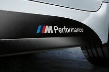 2 BMW M Performance Side Skirt Vinyl Decals Graphics Stickers Sills Sport emblem