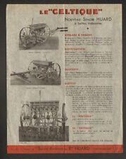 """CHATEAUBRIANT (44) USINE de MACHINES AGRICOLES / SEMOIR Le Celtique """"HUARD"""""""