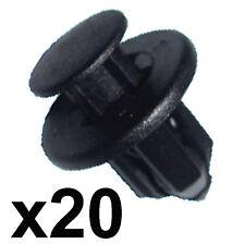 20x pare-chocs & sill trim clips - 12mm trou-s' adapte certains honda, nissan, mazda