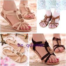 Women Boho Beach Casual Thong Flip Flops Sandals Slipper Flats Shoes Comfort B