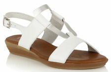 LOTUS LUXMORE SANDALS IN WHITE/SILVER LEATHER rrp£55 UK 4 EU 37 JS51 47