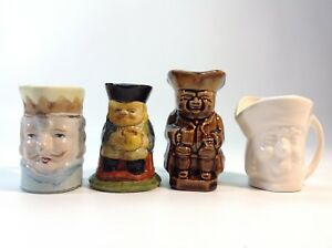 Lot of Assorted Charecter / Toby Jugs