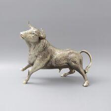 Skulptur Silber Stier Bulle Tierfigur wohl Italien 2. Hälfte 20. Jahrhundert