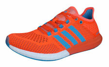 Scarpe sportive lacci arancione in gomma