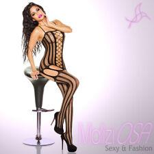 Bodystocking catsuit body Tutina sexy aperto lingerie intimo reggicalze rete hot