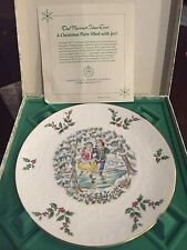 Royal Doulton 1977 Bone China Christmas Collector Plate In Original Box