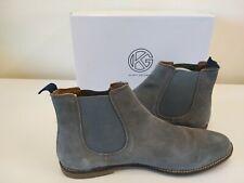Mens Kurt Geiger Uk 11 Kinross Grey Suede Slip On Desert Boots with Box EUR 45