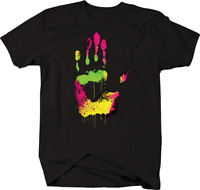 Multicolor Hand High Five Green Yellow Pink Friendly T-shirt