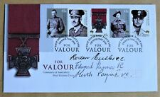More details for australia victoria cross 2000 fdc signed vc winners roden cutler, kenna & payne