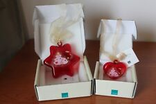 Thun,Lotto 2 addobbo Natale stella con cuore, dimensioni 9-5,5 cm. Nuovo.