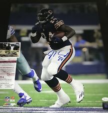 Jordan Howard Chicago Bears Autographed Signed 16x20 JSA WITNESS COA Blue