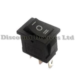 Rocker Switch 1 Circuits 6A 250V on-off-on I-O-II