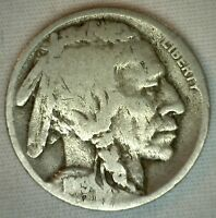 1919 D Buffalo Indian Head Nickel US Type Coin Five Cent Coin Good 5c K2