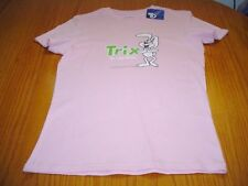 NEW WT GENERAL MILLS CEREAL TRIX ARE FOR KIDS PINK COTTON T-SHIRT JR WOMANS XL