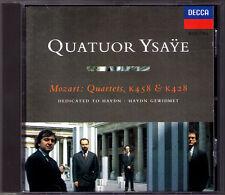 QUATUOR YSAYE: MOZART Streichquartett K428 458 CD 1994 String Quartet Fontevraud