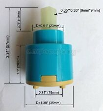 35mm Blue Ceramic Disc Cartridge Water Mixer Tap Inner Faucet Valve Yba500